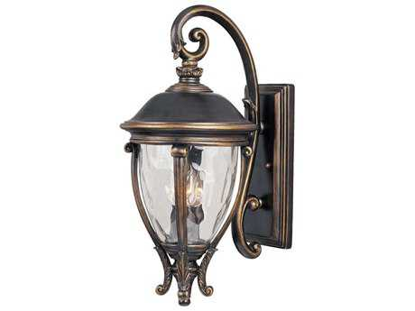 Maxim Lighting Camden Golden Bronze & Water Glass Three-Light 11'' Wide Outdoor Wall Light MX41425WGGO