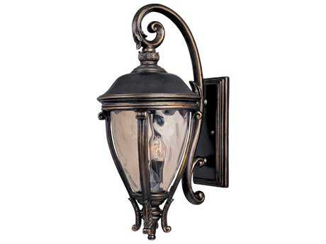 Maxim Lighting Camden Golden Bronze & Water Glass Three-Light 13'' Wide Outdoor Wall Light MX41426WGGO