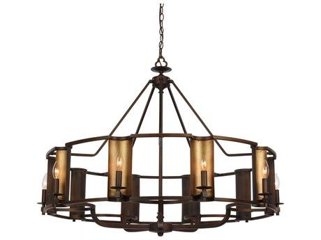 Maxim Lighting Candella Chestnut Bronze / Gold Ten-Light 42'' Wide  Chandelier MX30297CHBGLD