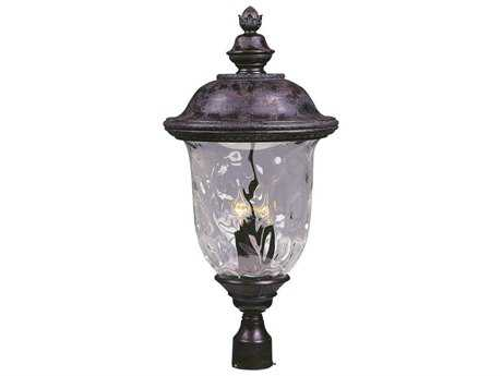 Maxim Lighting Carriage House DC Oriental Bronze & Water Glass Three-Light 14'' Wide Incandescent Outdoor Post Light