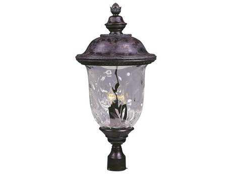 Maxim Lighting Carriage House DC Oriental Bronze & Water Glass Three-Light 14'' Wide Incandescent Outdoor Post Light MX3421WGOB