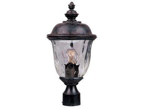 Maxim Lighting Carriage House DC Oriental Bronze & Water Glass 9'' Wide Incandescent Outdoor Post Light