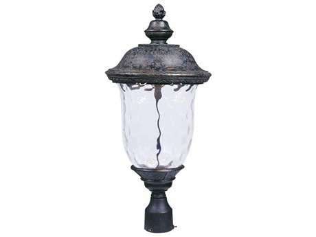 Maxim Lighting Carriage House Oriental Bronze & Water Glass 12.5'' Wide LED Outdoor Post Light MX55420WGOB