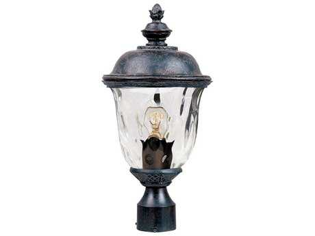 Maxim Lighting Carriage House VX Oriental Bronze & Water Glass 9'' Wide Incandescent Outdoor Post Light