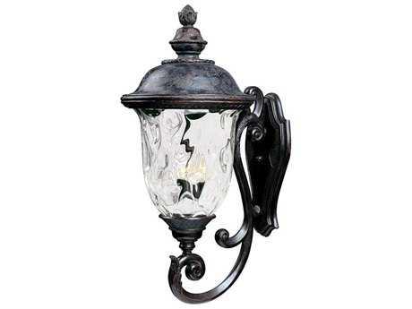 Maxim Lighting Carriage House VX Oriental Bronze & Water Glass Three-Light 14'' Wide Incandescent Outdoor Wall Light MX40425WGOB