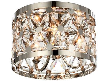 Maxim Lighting Cassiopeia Polished Nickel Three-Light 14'' Wide  Flush Mount Light MX39500BCPN
