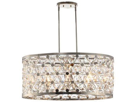 Maxim Lighting Cassiopeia Polished Nickel Eight-Light 33'' Wide  Island Light MX39507BCPN