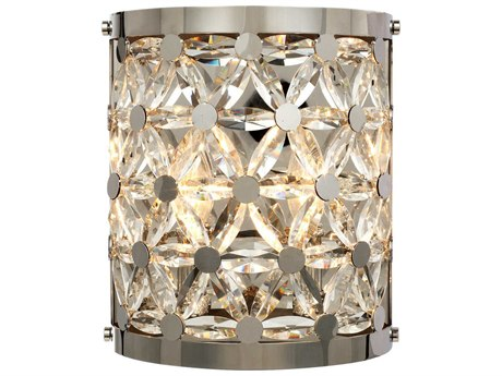 Maxim Lighting Cassiopeia Polished Nickel Two-Light 9'' Wide  Wall Sconce MX39503BCPN