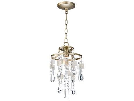 Maxim Lighting Cebu Capiz / Gold Silver  9'' Wide  Mini-Pendant Light