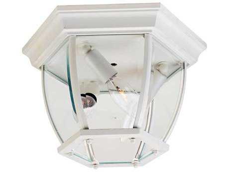 Maxim Lighting Maxim White Three-Light Outdoor Ceiling Light MX1029WT
