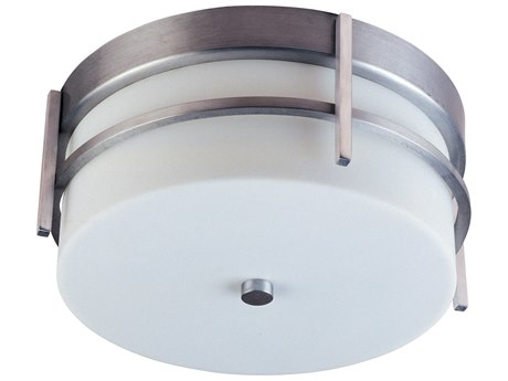 Maxim Lighting Luna  Brushed Metal Two-Light 11'' Wide LED Outdoor Flush Mount Light MX65217WTBM