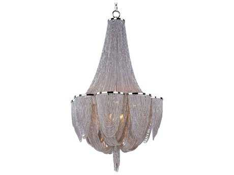 Maxim Lighting Chantilly Polished Nickel Ten-Light 22 Wide Chandelier MX21465NKPN