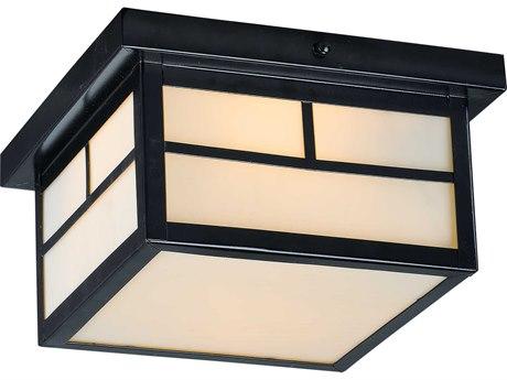 Maxim Lighting Coldwater Black Two-Light 9'' Wide  Outdoor Flush Mount Light MX4059WTBK
