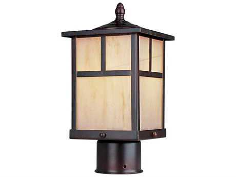 Maxim Lighting Coldwater Burnished & Honey Glass 6'' Wide Fluorescent Outdoor Post Light MX85055HOBU