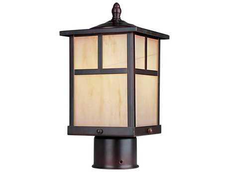 Maxim Lighting Coldwater Burnished & Honey Glass 6'' Wide Incandescent Outdoor Post Light MX4055HOBU
