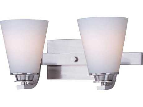 Maxim Lighting Conical Satin Nickel Two-Light Vanity Light MX9012SWSN