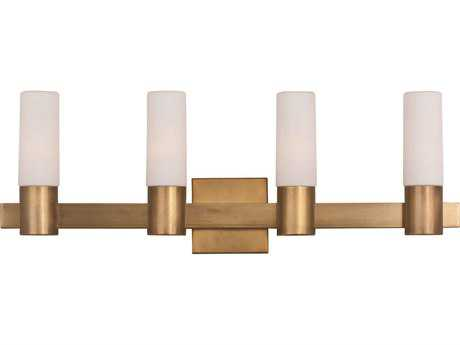 Maxim Lighting Contessa Natural Aged Brass Four-Light Vanity Light MX22414SWNAB