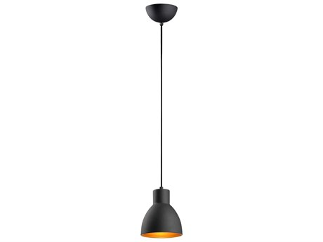 Maxim Lighting Cora Black / Gold  7'' Wide  Mini-Pendant Light MX11020BKGLD