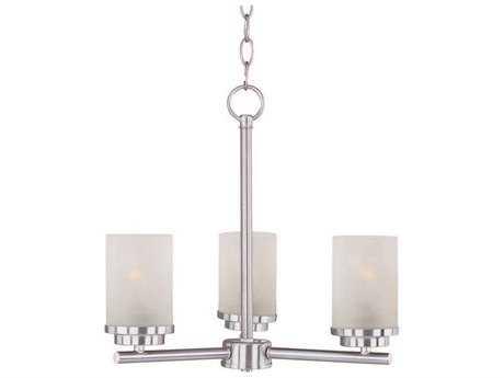 Maxim Lighting Corona Satin Nickel Three-Light 18 Wide Mini-Chandelier MX10203FTSN
