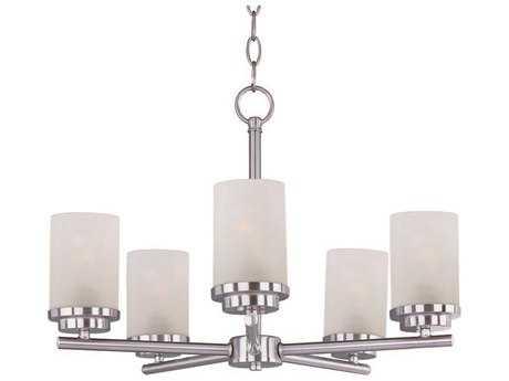 Maxim Lighting Corona Satin Nickel Five-Light 22 Wide Mini-Chandelier MX10205FTSN