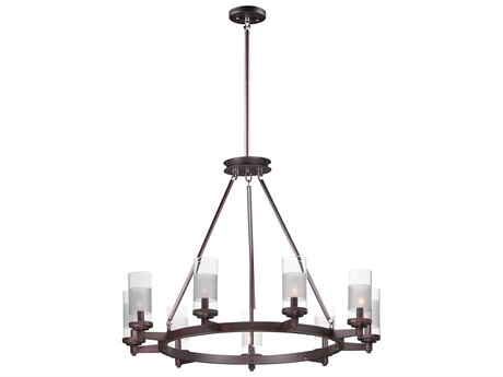 Maxim Lighting Crescendo Oil Rubbed Bronze Nine-Light 35'' Wide  Chandelier