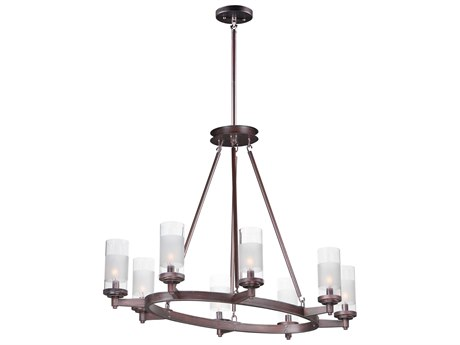 Maxim Lighting Crescendo Oil Rubbed Bronze Eight-Light 36'' Wide  Chandelier