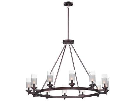 Maxim Lighting Crescendo Oil Rubbed Bronze 12-Light 44'' Wide  Chandelier MX26329CLFTOI