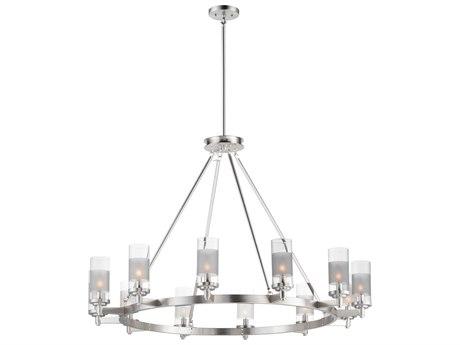 Maxim Lighting Crescendo Satin Nickel 12-Light 44'' Wide  Chandelier MX26329CLFTSN