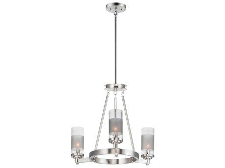 Maxim Lighting Crescendo Satin Nickel Three-Light 20'' Wide  Mini-Chandelier