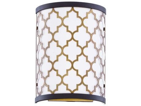 Maxim Lighting Crest Oil Rubbed Bronze / Antique Brass Two-Light 8'' Wide LED Vanity Light MX20294WLOIAB