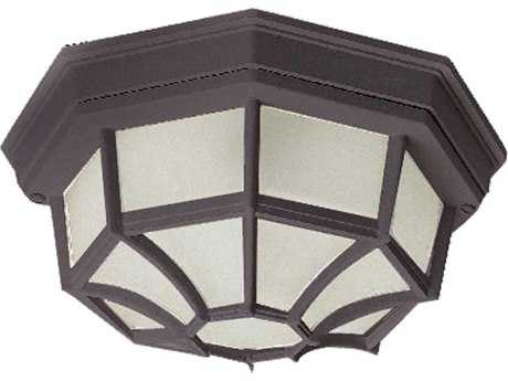 Maxim Lighting Crown Hill Rust Patina & Frosted Glass Two-Light 11'' Wide Outdoor Ceiling Light MX1020RP