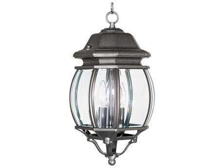 Maxim Lighting Crown Hill Rust Patina & Clear Glass Three-Light 8'' Wide Outdoor Hanging Light