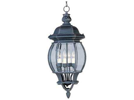 Maxim Lighting Crown Hill Rust Patina & Clear Glass Four-Light 10'' Wide Outdoor Hanging Light MX1039RP