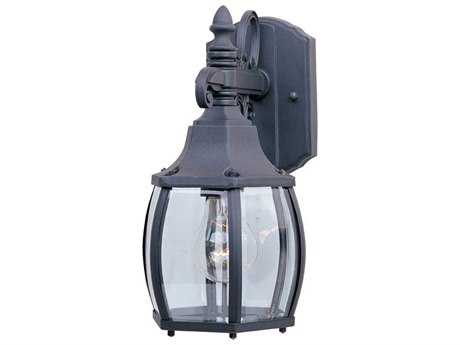 Maxim Lighting Crown Hill Black & Clear Glass 6.5'' Wide Outdoor Wall Light MX1031BK
