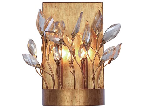 Maxim Lighting Crystal Garden Gold Leaf Two-Light 9'' Wide  Wall Sconce MX30443CGGL