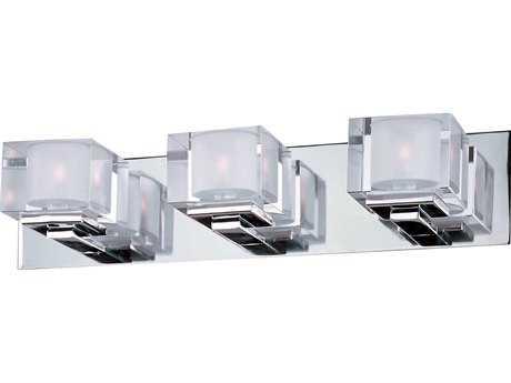 Maxim Lighting Cubic Polished Chrome Three-Light Vanity Light MX10003CLPC