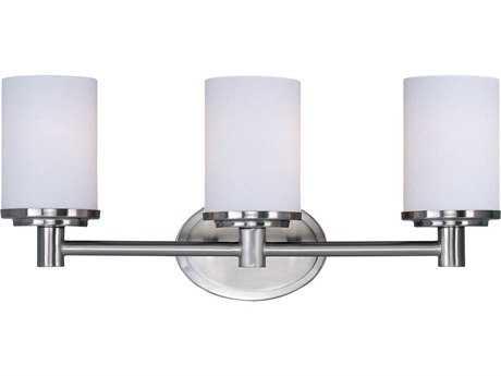 Maxim Lighting Cylinder Satin Nickel Three-Light Vanity Light