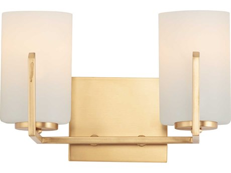 Maxim Lighting Dart Satin Brass 2-light Glass Vanity Light
