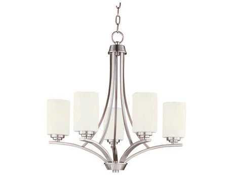 Maxim Lighting Deven Satin Nickel Five-Light 24 Wide Chandelier