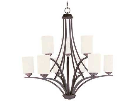 Maxim Lighting Deven Oil Rubbed Bronze Nine-Light 32 Wide Chandelier