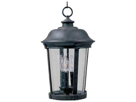 Maxim Lighting Dover DC Bronze & Seedy Glass Three-Light 10'' Wide Incandescent Outdoor Hanging Light