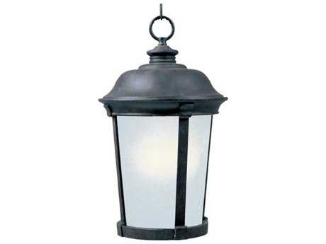 Maxim Lighting Dover Bronze & Frosted Seedy Glass 12'' Wide Fluorescent Outdoor Hanging Light
