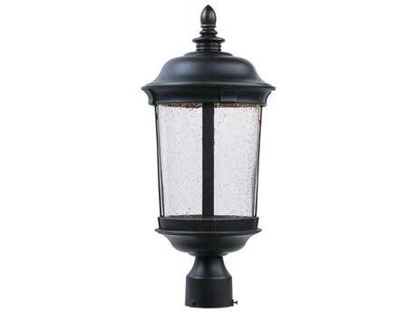 Maxim Lighting Dover Bronze & Seedy Glass 9'' Wide LED Outdoor Post Light MX55021CDBZ