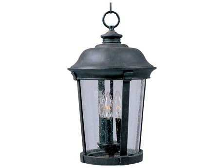Maxim Lighting Dover VX Bronze & Seedy Glass Three-Light 12'' Wide Incandescent Outdoor Hanging Light