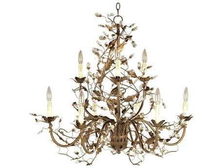 Maxim Lighting Elegante Etruscan Gold Nine-Light 29 Wide Chandelier MX2852EG