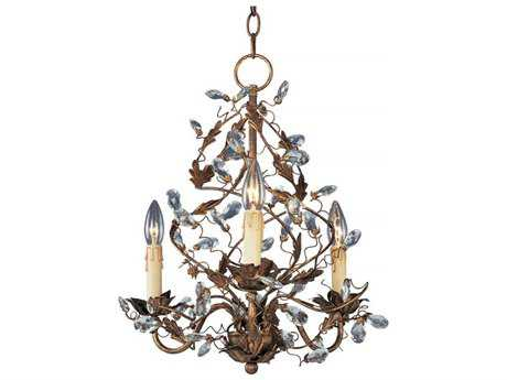 Maxim Lighting Elegante Etruscan Gold Three-Light 18.5 Wide Mini-Chandelier