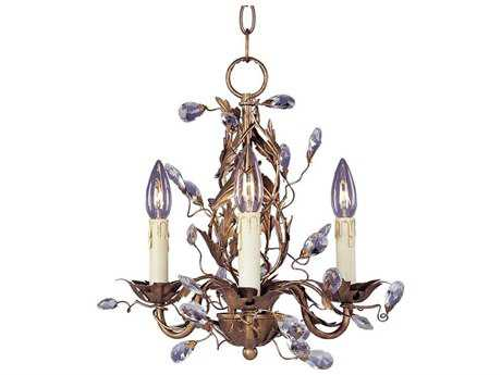 Maxim Lighting Elegante Etruscan Gold Three-Light 14 Wide Mini-Chandelier MX2855EG