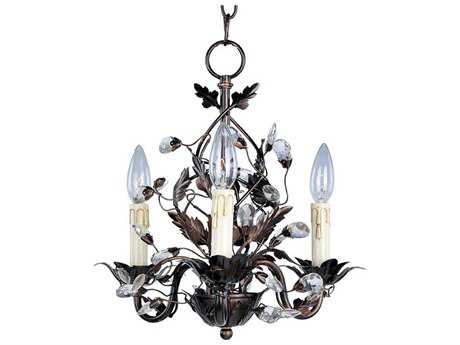 Maxim Lighting Elegante Oil Rubbed Bronze Three-Light 14 Wide Mini-Chandelier MX2855OI