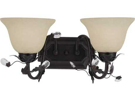 Maxim Lighting Elegante Oil Rubbed Bronze Two-Light Vanity Light MX2864FIOI