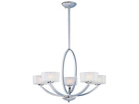 Maxim Lighting Elle Polished Chrome Five-Light 30 Wide Chandelier MX19045FTPC